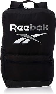 شنطة ظهر مستطيلة بشعار امامي للجنسين من ريبوك Training Essentials Medium - اسود وابيض