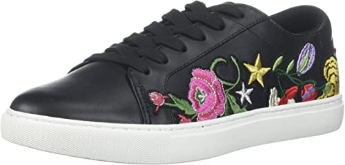 Kenneth Cole New York Wohommes Kam 10 Floral Embroiderouge Lace-up Lace-up Lace-up paniers, noir, 9 M US bd4