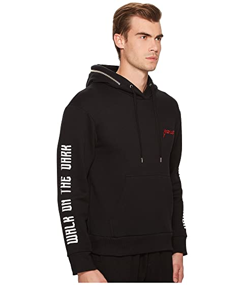 with Hoodie Zip Kooples Sweatshirt Black The Detailing xqBHA4Ww