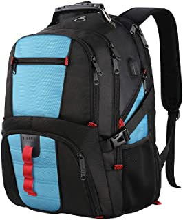 TSA Laptop Backpack,Large Capacity Travel Computer Bagpack with Organizer Pockets/USB Port/Headphone Hole for Men&Women,Water Repellent Big Business Casual Work School Bookbag Fit 17Inch Notebook,Blue