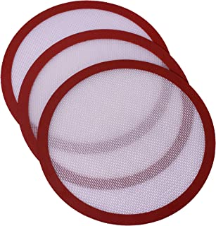 Kitchvana Round Silicone Non-Stick Baking Mats – Reusable Round Silicone Baking Mats – Pack of 3 6.6-inch silicone pastry mats – Heat Resistant Baking Sheet Liners by Kitchvana