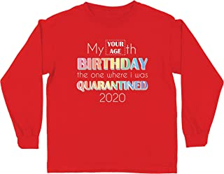 lepni.me Kids T-Shirt Custom Quarantine 2020 Happy Birthday Social Distancing