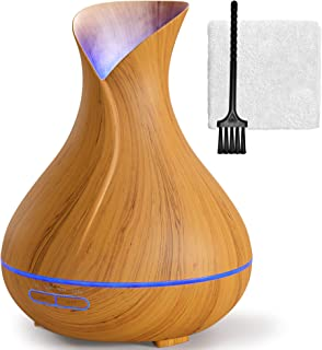 Everlasting Comfort Essential Oil Diffuser - 400 ml - Super High Aroma Output with Cleaning Kit - ETL Certified - Light Wood