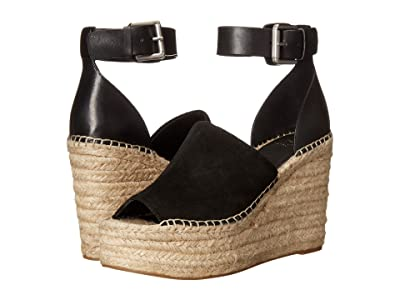 Marc Fisher LTD Adalyn Espadrille Wedge (Black Suede) Women