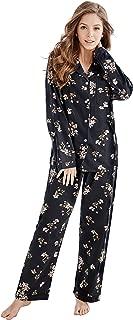 Women's 100% Cotton Long Sleeve Flannel Pajama Set Sleepwear