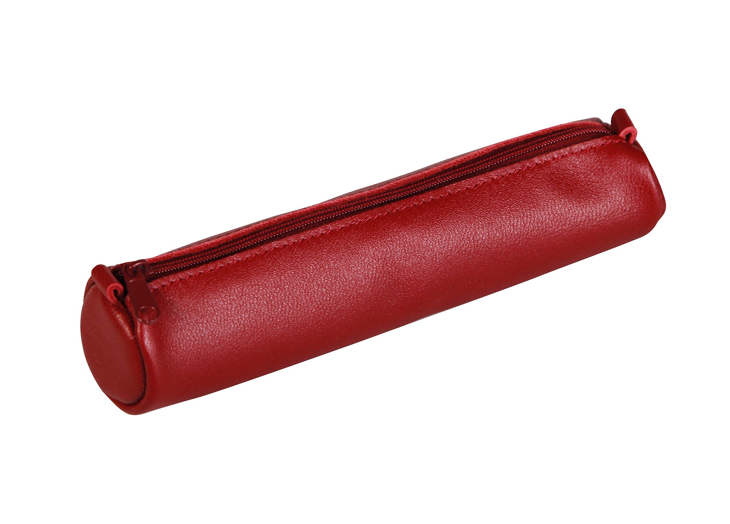 Clairefontaine Schlamperm AgeBag - Estuche Redonda de Piel, 18,5 x Ø 4, Rojo: C Rhodia: Amazon.es: Oficina y papelería