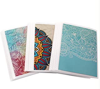 4 x 6 Photo Albums Pack of 3 - Watercolors, Each Mini Photo Album Holds Up to 48 4x6 Photos. Flexible, Removable Covers Come in Random, Assorted Patterns and Colors.
