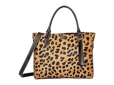 Frances Valentine Olivia Double Handle Satchel (Leopard) Handbags