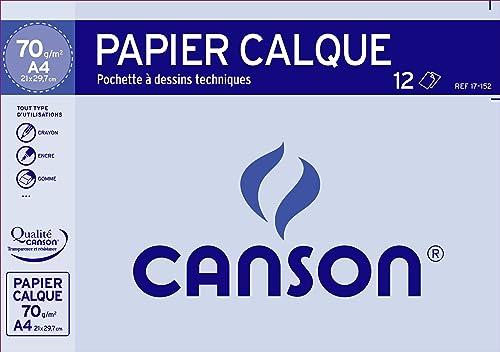 CANSON Zeichenpapier, satiniert, DIN A4, 70 75 g qm 17152