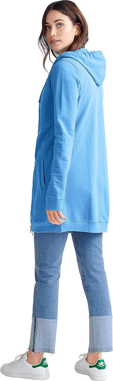 ellos Women's Plus Size Long Zip Front Hoodie