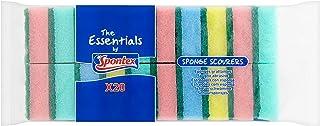 Spontex Essentials Schwamm Topfreiniger–6 x 20Stück, Gesamt 120