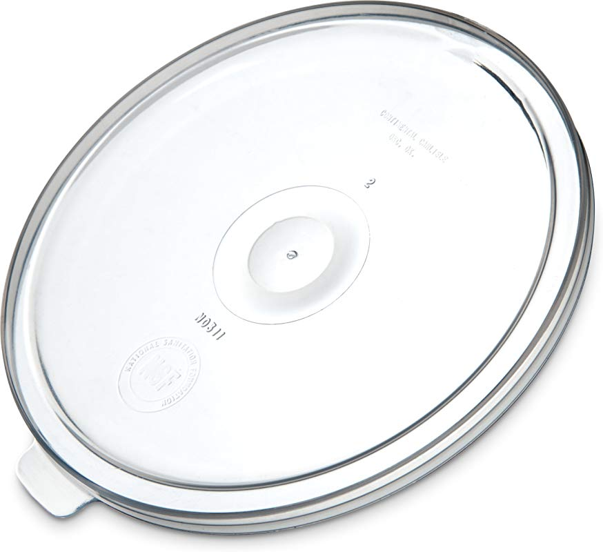 Carlisle 031130 Polypropylene Replacement Snap On Lid 0 38 Height X 5 13 Diameter See Thru For 1 2 Qt Crocks Case Of 12