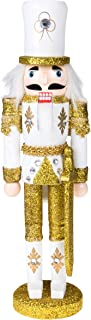 Clever Creations Traditional Christmas Gold Soldier with Sword Nutcracker   Solider Outfit   Festive Christmas Decor   12