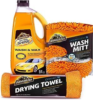Armor All Car Wash Kit (3 Items) - Includes 64 oz Ultra Shine Wash & Wax Car Wash Soap, Wash Mitt & Microfiber Drying Towe...