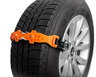 TreadReady Adirondack Strap (Orange) AS10PG1 Emergency Traction Device for Snow Sand and MUD - Easier Than Snow Chains!