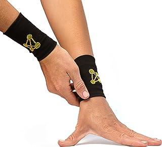 CopperJoint - آستین مچ دست فشرده سازی شده با مس ، طراحی ارگونومیک از گردش خون بهبود یافته برای کمک به تسکین سفت ، عضلات درد ، جفت پشتیبانی می کند