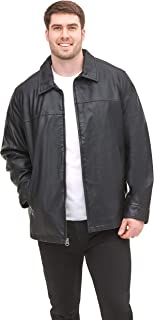 Men's Classic Faux Leather Jacket (Regular and Big and Tall Sizes)
