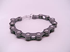 Chain Reaction Recycled Black Bicycle Bike Chain Bracelet Punk Kitsch Geek