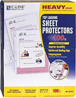 48141 100//Box Sheet Protectors Charles Leonard Inc Economy Weight Clear