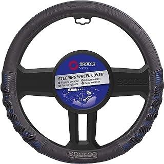SPARCO Universal Steering Wheel Cover 38 cm, SPS101BL, Black/Blue