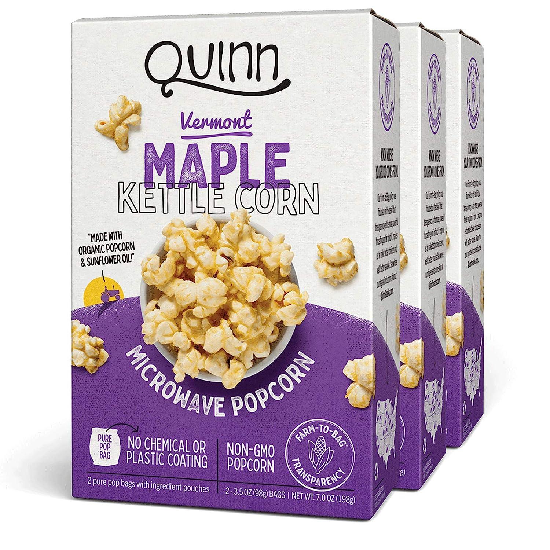 Quinn Snacks Microwave Popcorn - Non-GMO Corn Made Organic Max Mesa Mall 80% OFF with