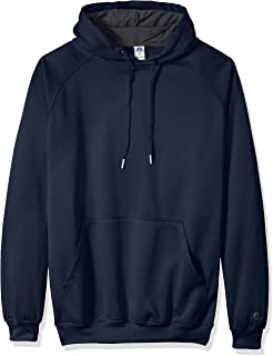 Russell Athletic Mens RUSS3816AM Po Poly Flece Hd W/Contrast Liner Logo on Sleeve Sweatshirt