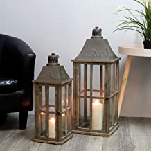 Gartenlaterne Laterne Windlicht extra groß Holz-Laterne XXL