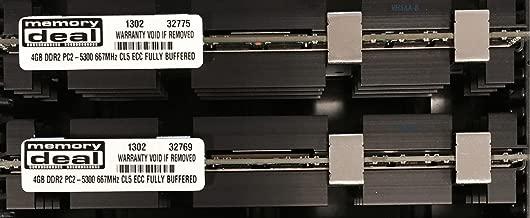 8GB (2X 4GB) DDR2 PC2-5300F 667MHz CL5 ECC Fully Buffered FB-DIMM (240 PIN) 8 GB w/Heatspreaders for Apple Computers