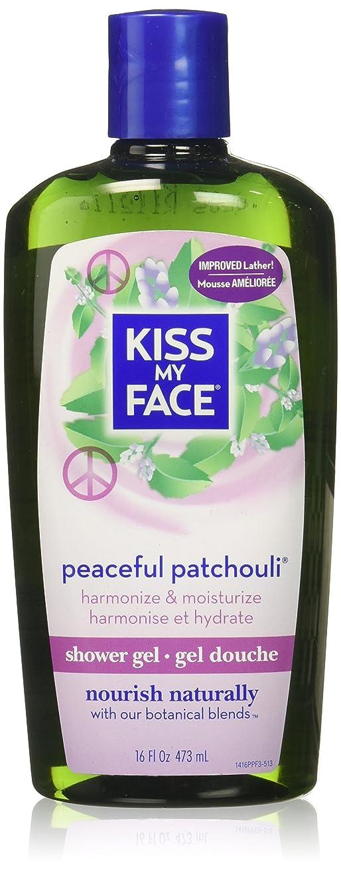 カフェテリア病な独特の海外直送品Kiss My Face Bath & Shower Gel Peaceful Patchouli, 16 Oz