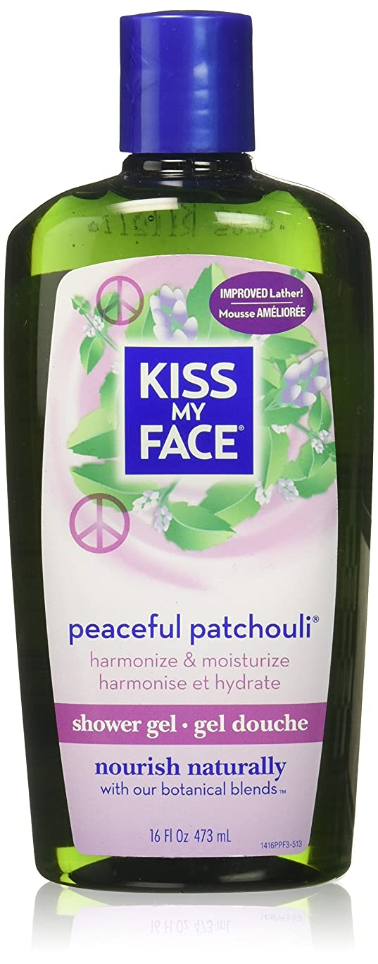 味付け繰り返したヘビ海外直送品Kiss My Face Bath & Shower Gel Peaceful Patchouli, 16 Oz