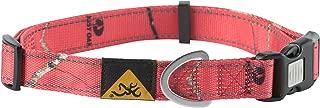 Browning Classic Dog Collars, Durable Nylon Webbing, Reflective Stitching, Locking Buckle, Sizes Small Medium and Large