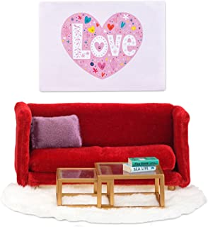 Lundby Smaland Living Room Playset (Red)