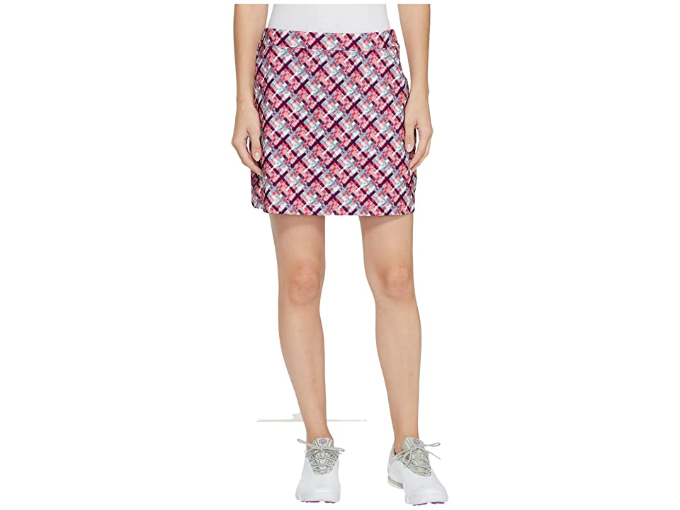 PUMA Golf Plaid Knit Skirt (Dark Purple) Women