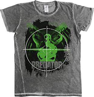 Officially Licensed Predator Crosshair Urban Slim Fit Mens T-Shirt (Grey)