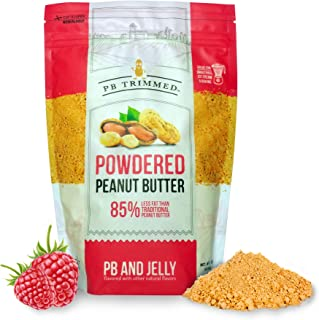 PB Trimmed PB & JELLY All Natural & Kosher Premium Powdered Peanut Butter from Real Roasted Pressed Peanuts, Good Source of Protein - 1 LB Pouch. (PB & Jelly, 1 LB)