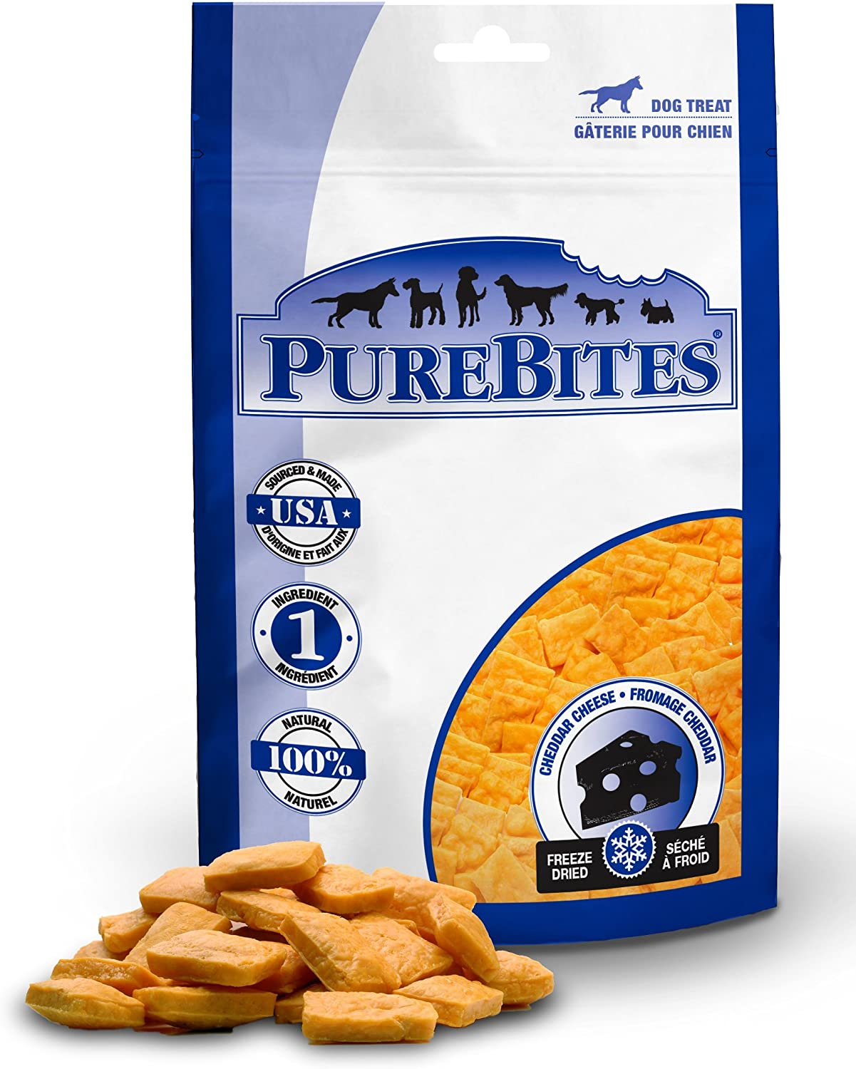 PureBites Cheddar Cheese for Dogs, 16.6oz   470g  Super Value Size