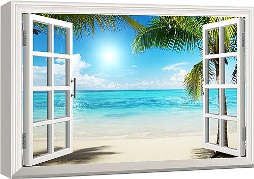 "wall26 - Beautiful Tropical Beach Gallery - Canvas Art Wall Art - 24"" x 36"""