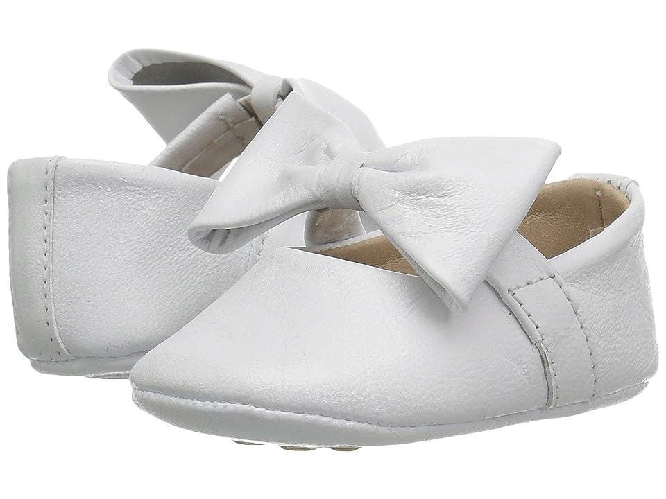 Elephantito Baby Ballerina w/ Bow (Infant/Toddler) (White) Girls Shoes