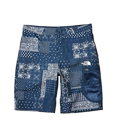 The North Face Kids High Class V Water Shorts (Little Kids/Big Kids) (Blue Wing Teal Patchwork Print) Boy