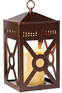 Candle Warmers Etc. Mission Candle Warmer Lantern, Rustic Brown