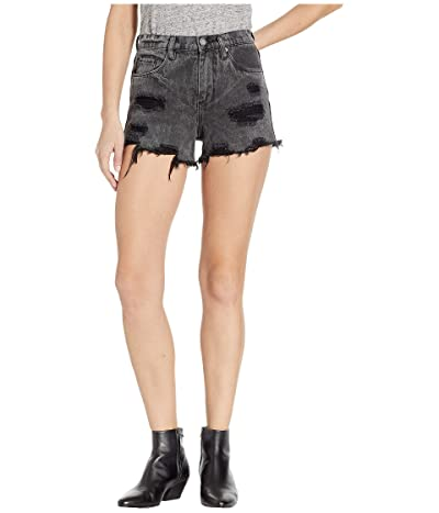 Blank NYC The Barrow High-Rise Washed Out Distressed Shorts in Stormi (Stormi) Women