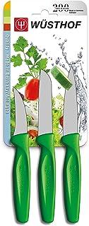 Wüsthof Dreizack Juego de Cuchillos 3 Teilig Cuchillo para verdura 9332 G Verde