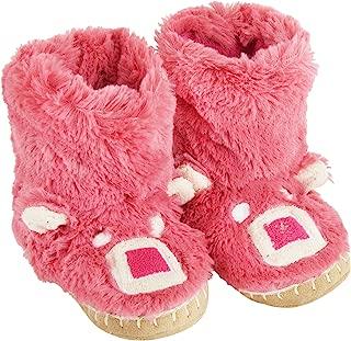 Hatley Girls 2-6x Pink Bear Kids Slouch Slipper, Just Kissed, L(11-13)