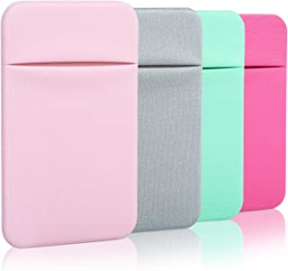 Costyle Slim Credit Card Holder for Back of Phone Cell Phone Stick On Wallet