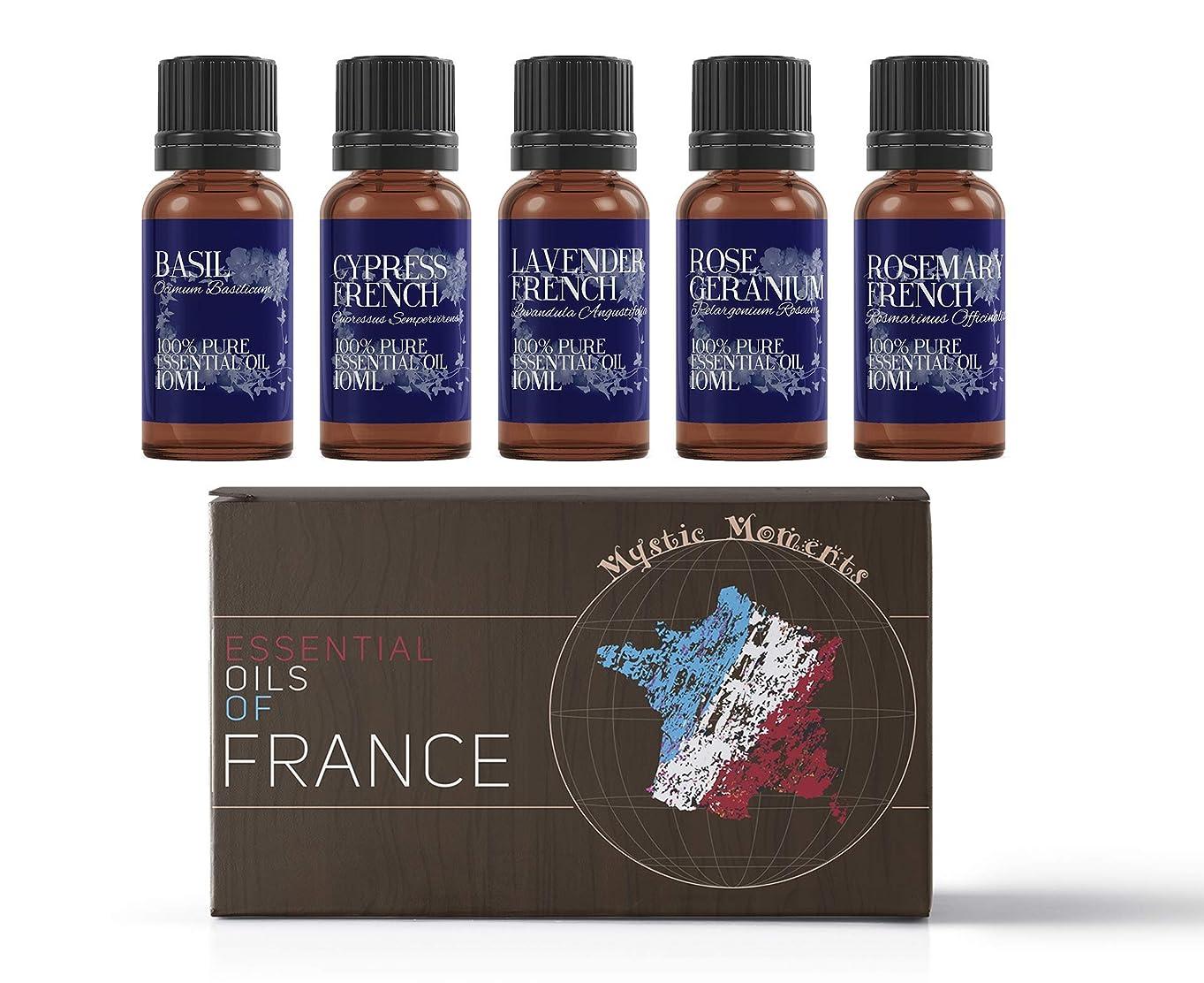メナジェリーベアリング金銭的Mystic Moments | Gift Starter Pack of 5 x 10ml - Essential Oils Of France