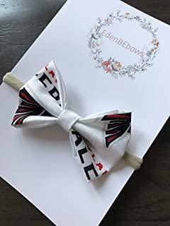 Atlanta Falcon Falcons baby girl newborn nylon headband bow - great for newborns girls toddlers - MADE in USA- extra soft nylons