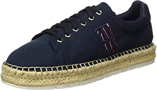 Tommy Hilfiger Nautical Th Lace Up Espadrille, Escarpins Bout Ouvert Femme