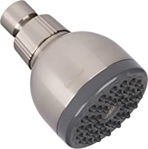 High Pressure Showerhead Brushed Nickel - Best Wall Mount, Bathroom, RV Shower Head For Low Flow Showers - Brush Nickle