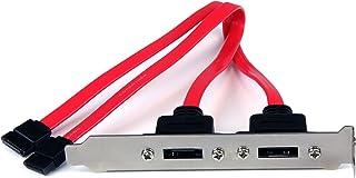 StarTech.com 2 Port SATA to eSATA Slot Plate BRacket - eSATA slot bRacket - SATA to eSATA plate - SATA to eSATA bRacket (ESATAPLATE2), Red