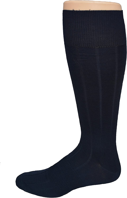 Men's Big & Tall Mercerized Cotton Premium Dress Sock - Made in USA